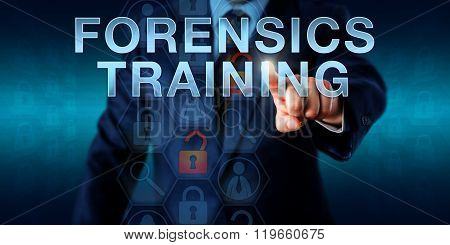 Investigator Touching Forensics Training