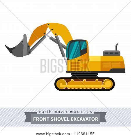 Front Shovel Excavator For Earthwork Operations