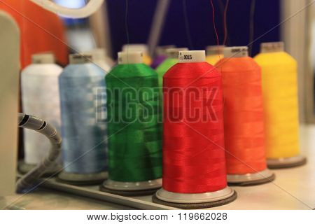 Colored Thread On Reels