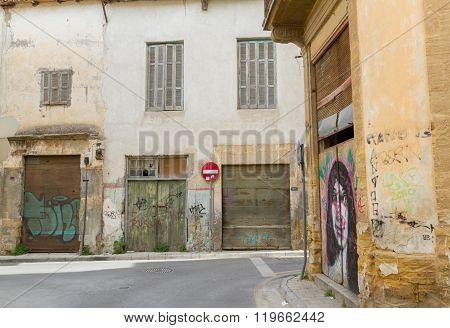 Scenic Alleys In The Old Nicosia City Centre.