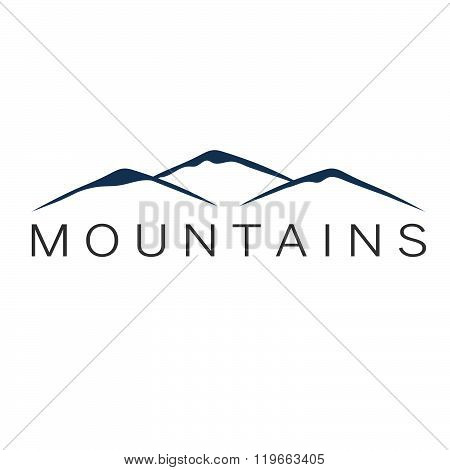 Mountains Abstract Illustration . Concept Of Graphic Clipart Work