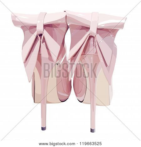 picture of women high heel shoes on white background, vector eps10 illustration