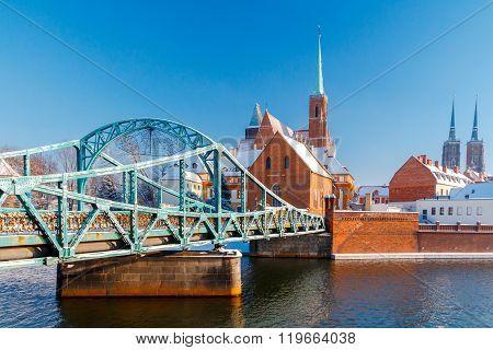 Wroclaw. Tumski bridge.