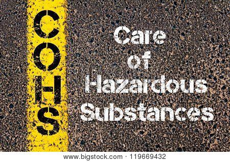 Business Acronym Cohs Care Of Hazardous Substances