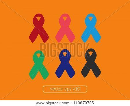banner ribbons vector set