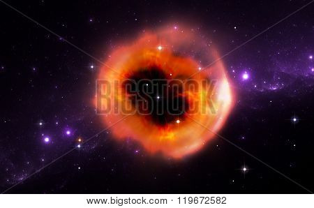 Illustration Of The Ring Of Material Ejected From The Supernova Explosion