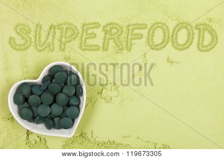 Green Food Supplement Background.