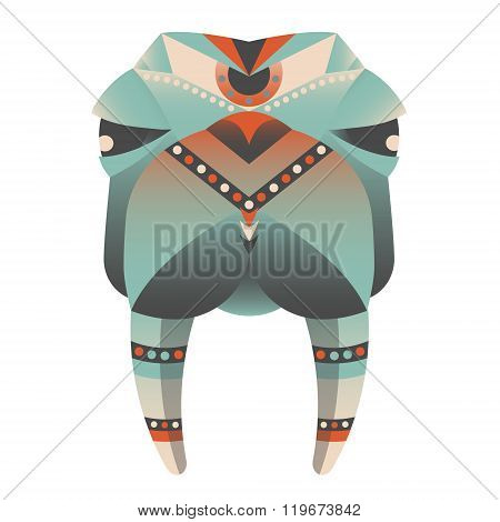 The head of walrus vector illustration. Abstract animal icon print card logo