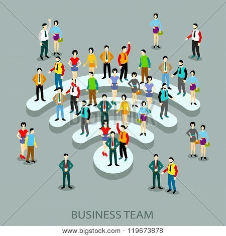 Grop business vector people in flat style