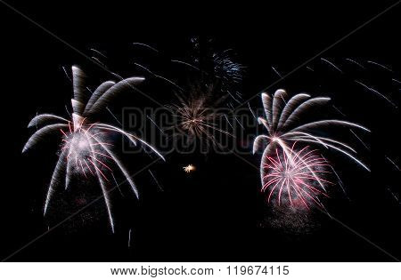 Fireworks Background, Fireworks Pattern, Colourful Pattern