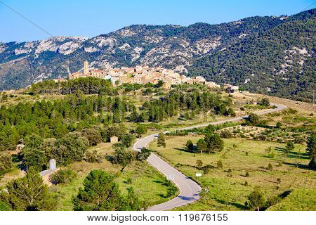El Ballestar village in Tinenca de Benifassa area of Castellon Spain