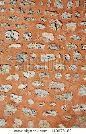 masonry texture in Albarracin Teruel Spain