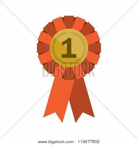 Red Winner Rosette