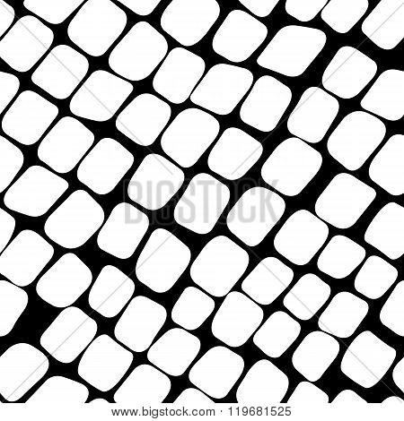 Seamless black and white pattern with paving stone