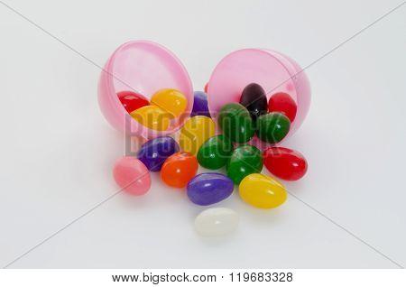 Jelly Beans In Plastic Egg