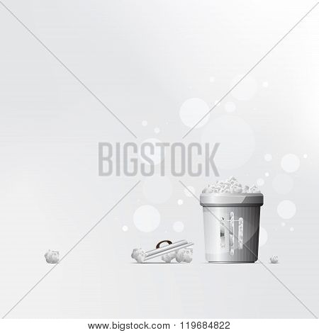 Vector black trash can background