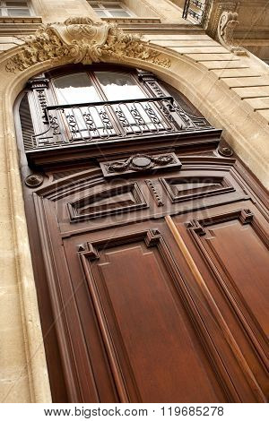Door Of A French Mansion
