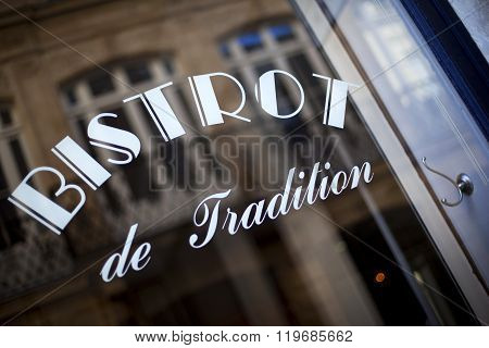 Window Of A Bistro