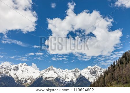 Mountain Panorama With Interesting Clouds