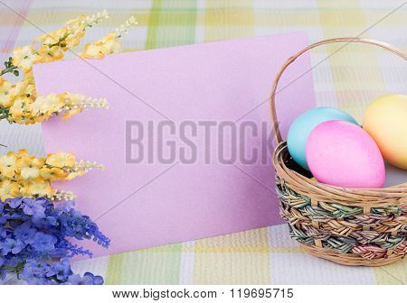 Easter Decorations With Blank Envelope