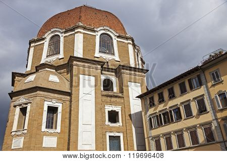 The Basilica di San Lorenzo (Basilica of St Lawrence) in Florence. Florence Tuscany Italy