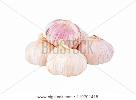 Garlic On White