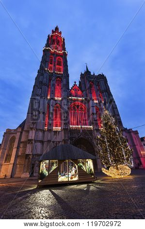 Cathedral of Our Lady in Antwerp. Antwerp Flemish Region Belgium