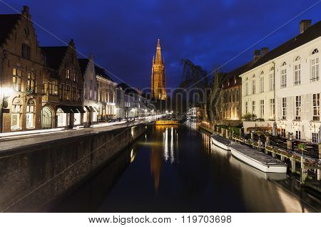 Church of Our Lady in Bruges. Bruges Flemish Region Belgium