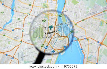 Montreal on Google maps app.