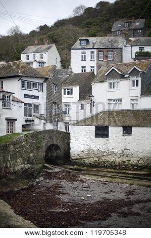 Polperro Fishing Village In Cornwall
