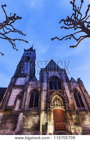 Saint-germain Church In Amiens