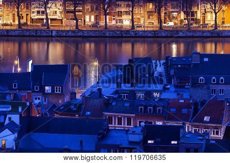 Architecture Of Liege Along Meuse River