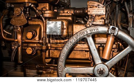 Main Exhaust Stop Valve Machinery Close-up