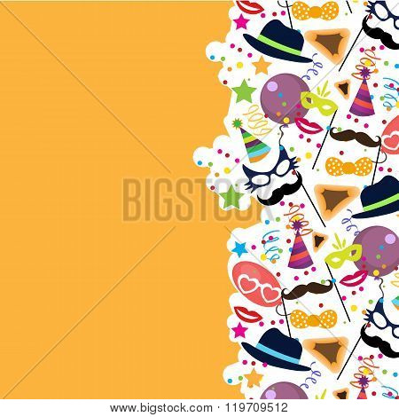 Jewish holiday purim vector background
