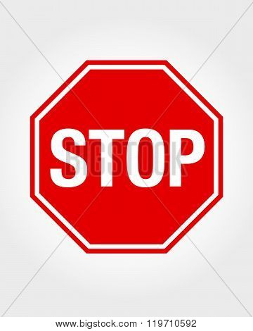 Vector Stop Sign Graphic