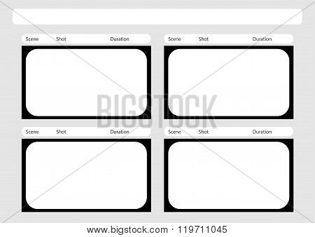 Hdtv Classical Style 4 Frame Storyboard Template