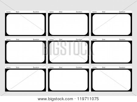 Hdtv Classical Style 9 Frame Storyboard Template