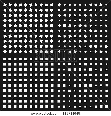 Optical Illusion. Squares Patterns