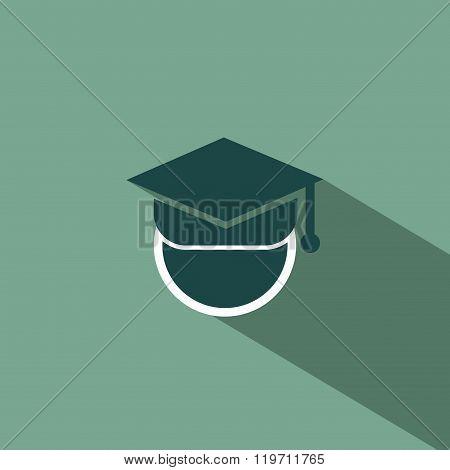 Graduation silhouette flat design
