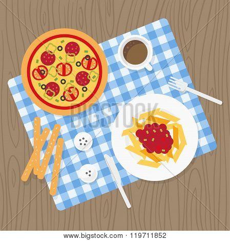 Italian meal set