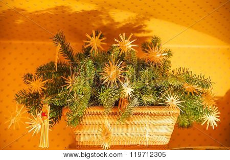 Basket As A Christmas Decoration