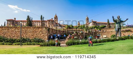 Panorama of  Union Buildings in Pretoria