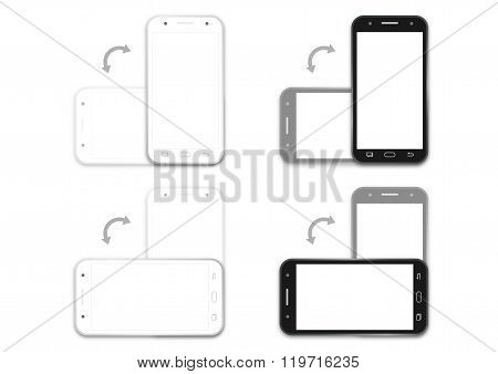 Phone Black And White Rotation Layout Template