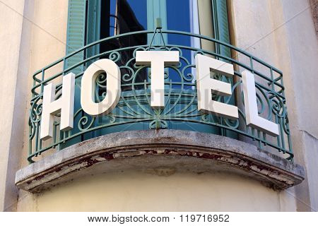 Small Luxury Hotel Entrance Sign In Provence South Of France