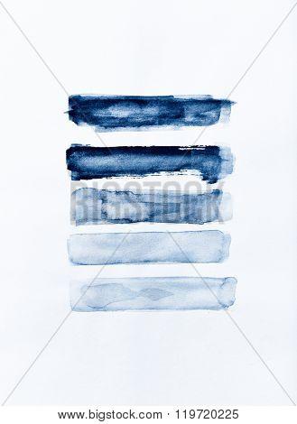 Indigo watercolor swatches