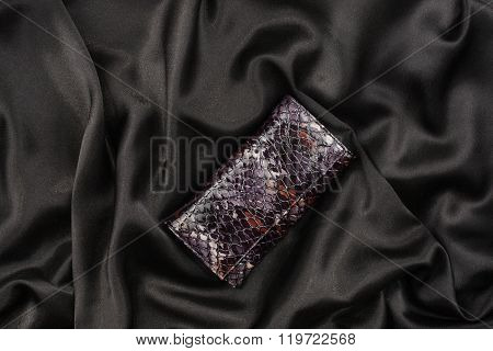 Purse Lacquer On A Black Silk