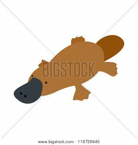 Australian platypus icon, isometric 3d style