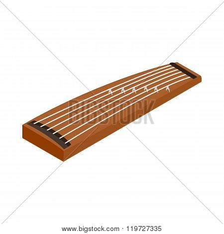Koto, a traditional musical instrument of Japan
