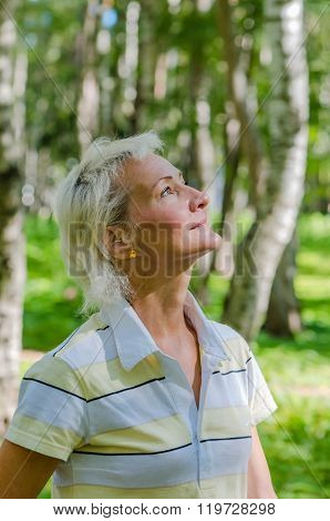 Portrait Of The Woman In A Birch Wood