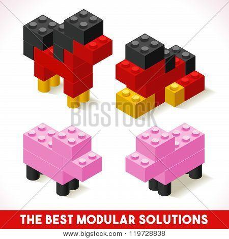 Toy Block Farm 04 Games Isometric